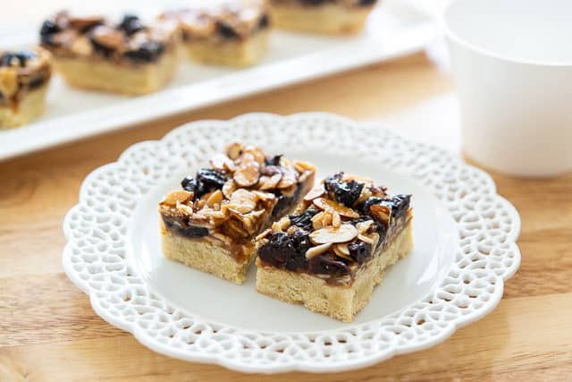 Florentine Bars on White Plates