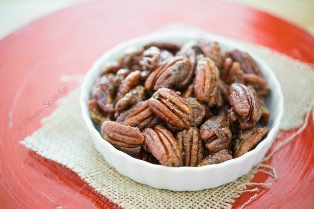 Quick Stovetop Candied Pecans take 5 minutes to make!