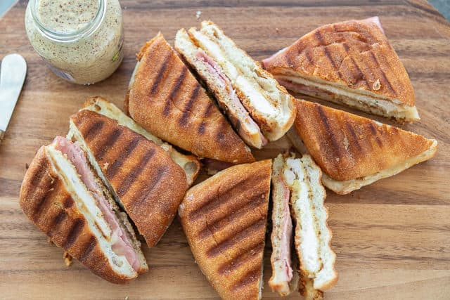 Chicken Panini with Ham, Cheese, and Mustard