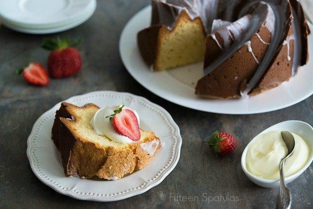 Cream Cheese Pound Cake On Plates