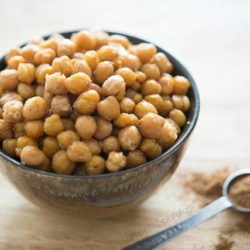 Crispy Indian Spiced Chickpeas in a Bowl