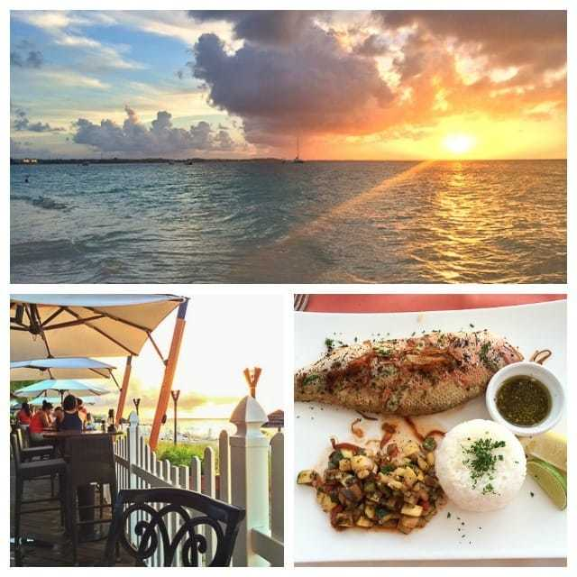 Photo Collage of Turks and Caicos Restaurant with Food and View