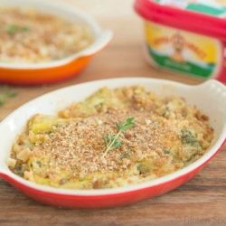 Leek Gratin in Oval Dishes