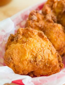 Fried Chicken - in a Red basket with Crispy Breading
