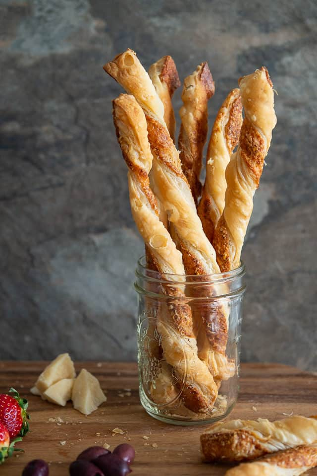 Puff Pastry Cheese Straws - Made with Storebought Dough for Easy Prep