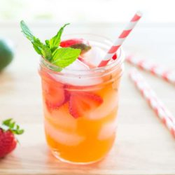 Strawberry Limeade in Glass