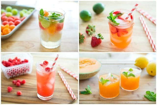 Four Non Alcoholic Refreshing Summer Drink Recipes Cantaloupe Agua Fresca Raspberry Vanilla Soda