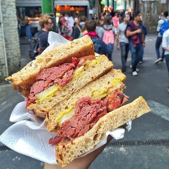 A pastrami sandwich at London Market