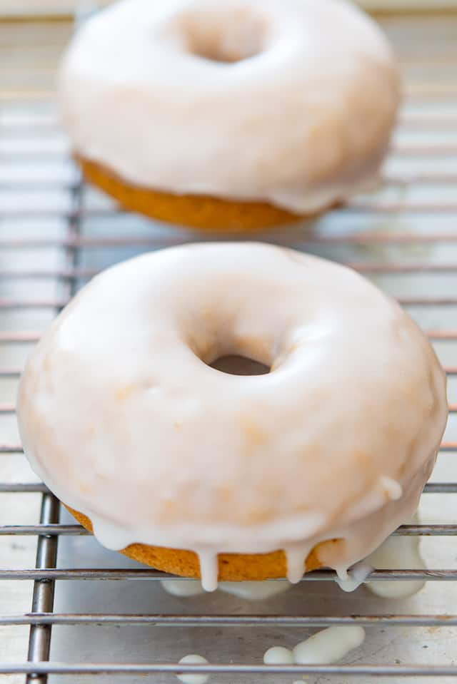 Pumpkin Spice Donuts - Baked in the oven instead of fried!