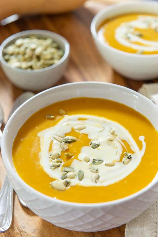 Butternut Squash Soup #butternutsquash #easy #healthy #creamy #soup