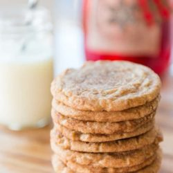 Snickerdoodles Stacked In a Pile on Wooden Board