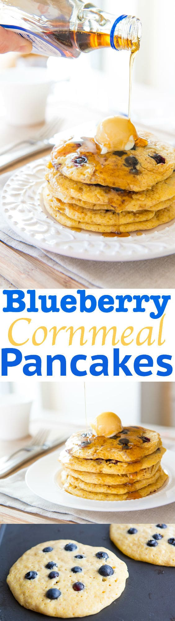 Blueberry Cornmeal Pancakes Recipe