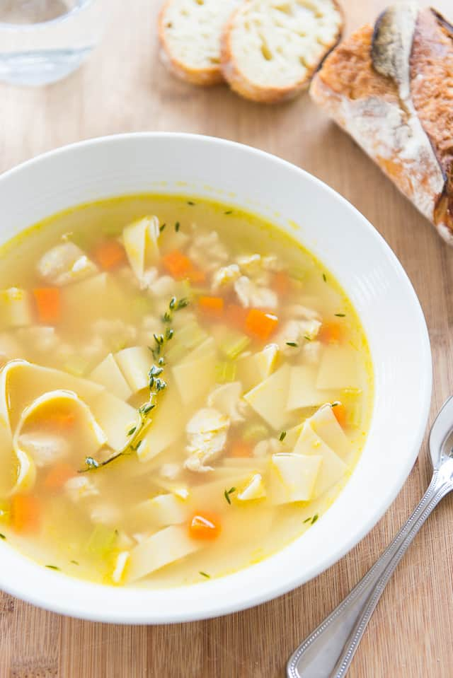 Quick Chicken Noodle Soup #soup #chickennoodlesoup #chickensoup #quickrecipes