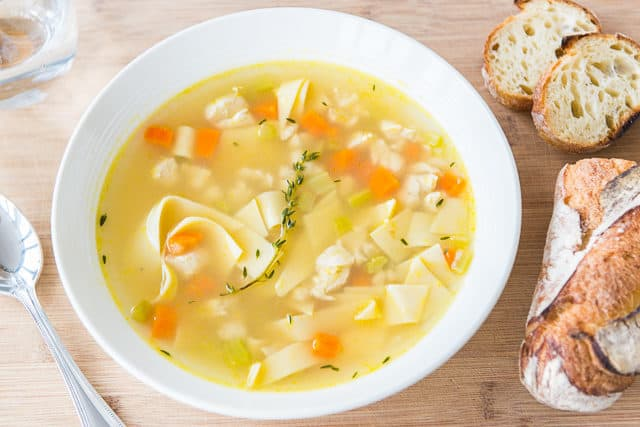 How to make chicken noodle soup from stock