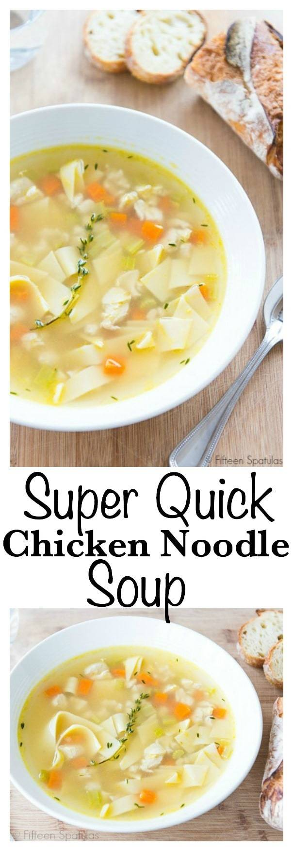 Photo Collage of Quick Chicken Noodle Soup
