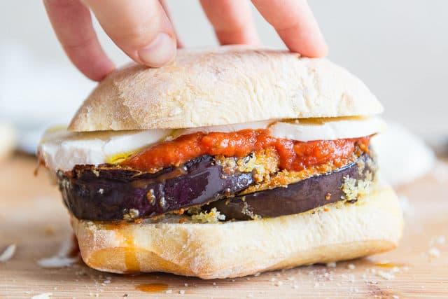 Eggplant Parmesan Sandwiches