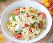 Caprese Pasta Salad Recipe - Potluck Salads