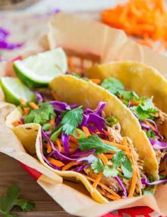 Slow Cooker Asian Pork Tacos