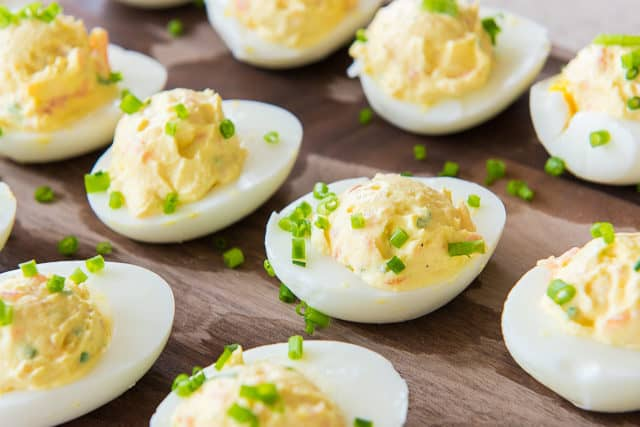 Smoked Salmon Eggs - Deviled Eggs Without Mayo