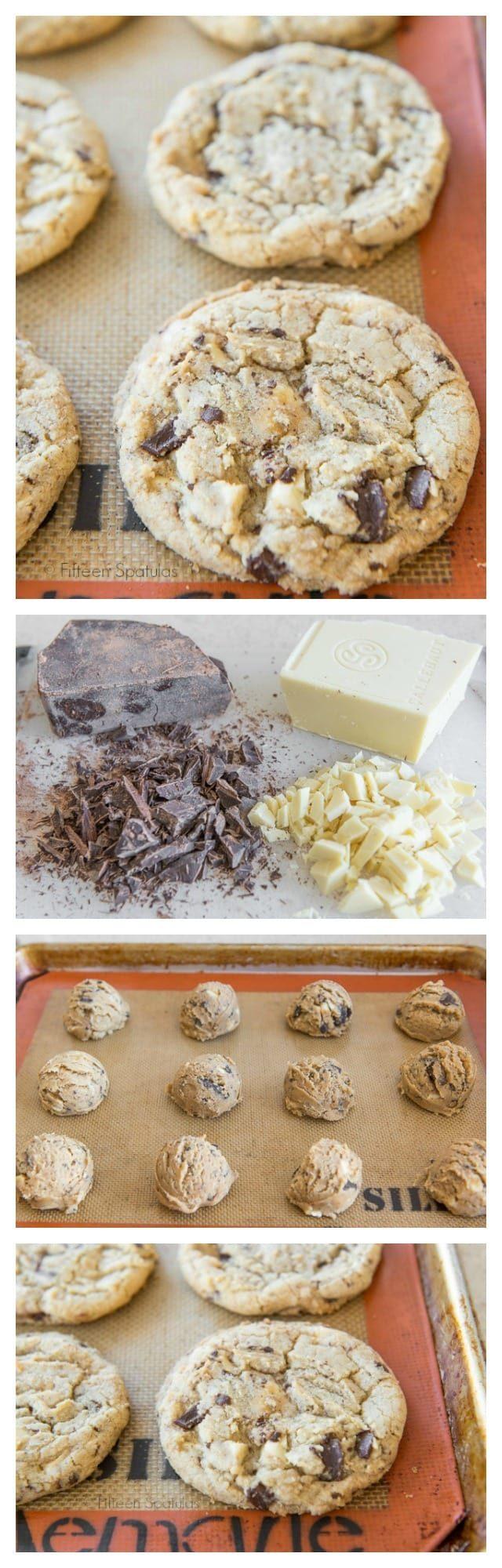 Chocolate Chunk Cookies with White and Dark Chocolate Chunks!