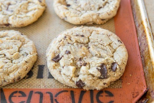 White & Dark Chocolate Chunk Cookies