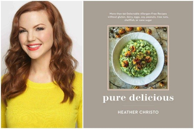 Heather Christo Headshot and Pure Delicious Book Cover