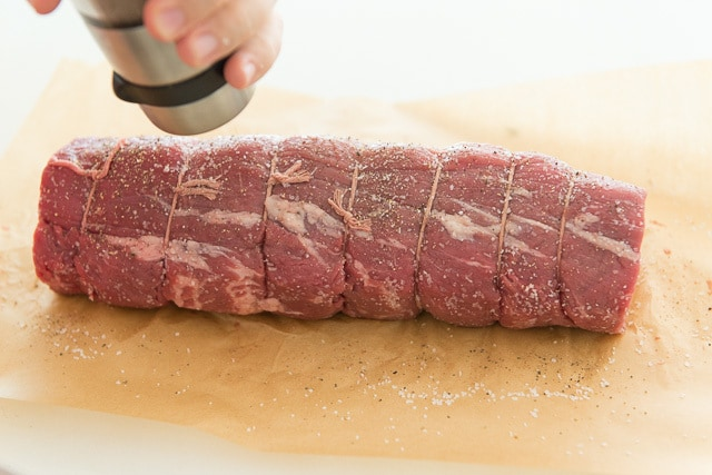 Tenderloin Beef - Center Cut and Tied with Twine to keep its shape during cooking