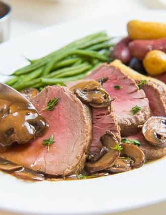 Beef Tenderloin with Mushroom Pan Sauce