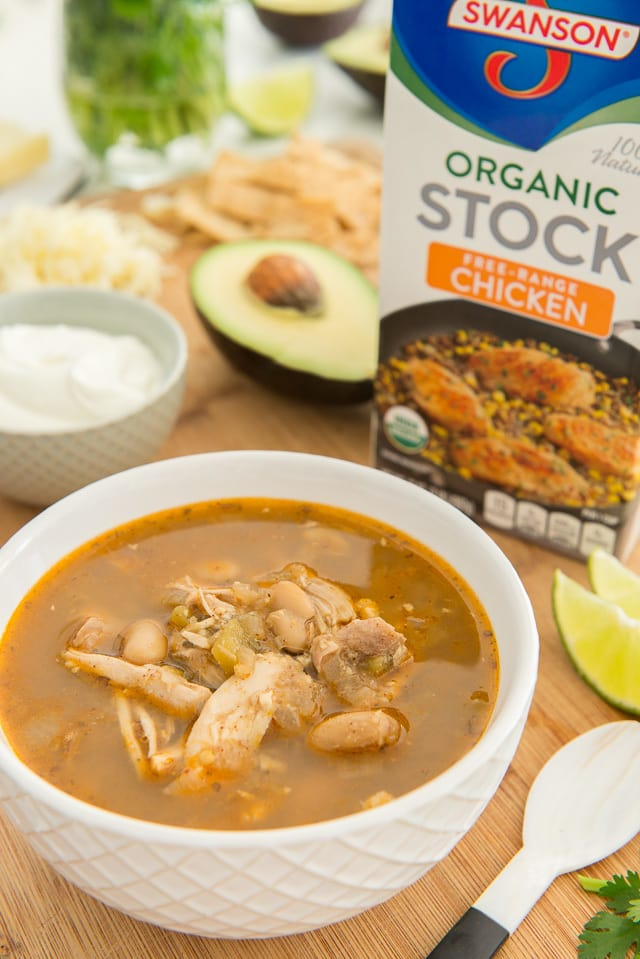 White Chicken Chili made with Swanson Organic Stock