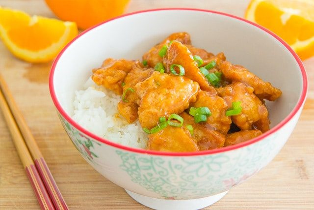 Orange Chicken is a great Chinese Takeout Recipe that you can make yourself! Only takes 15 minutes to make.