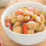 Chinese Takeout at Home, in 20 minutes! Kung Pao Chicken is an easy stir fry with marinated chicken, bell pepper, peanuts, and other great flavors.