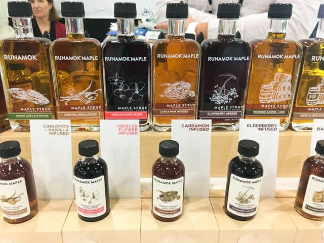 Line Of Runamok Maple Syrups At Fancy Food Show New York City