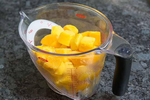 Mango Chunks in Measuring Cup