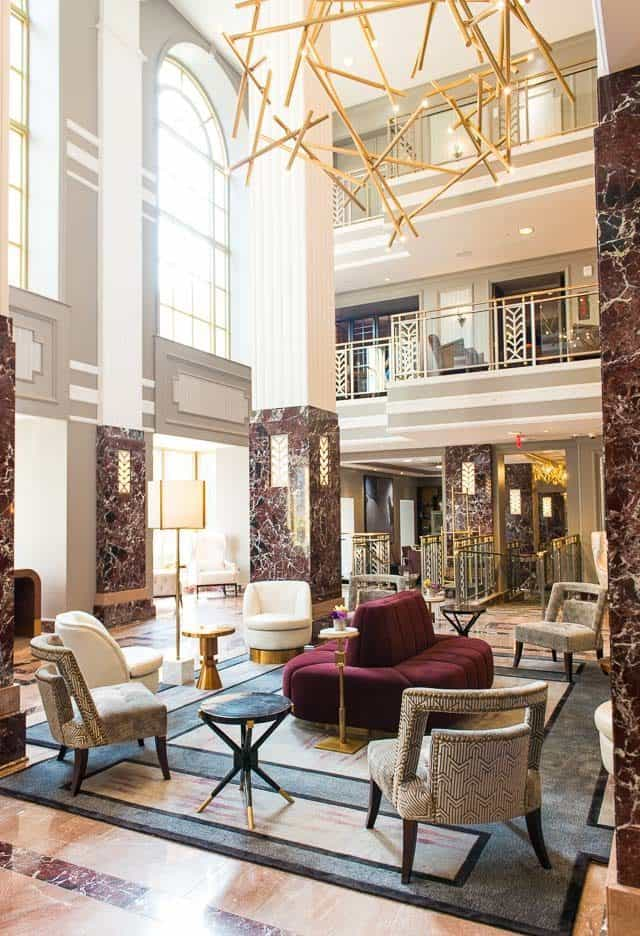 The Lobby Of Hotel LeVeque In Columbus, Ohio - Part Of Marriott's Autograph Collection