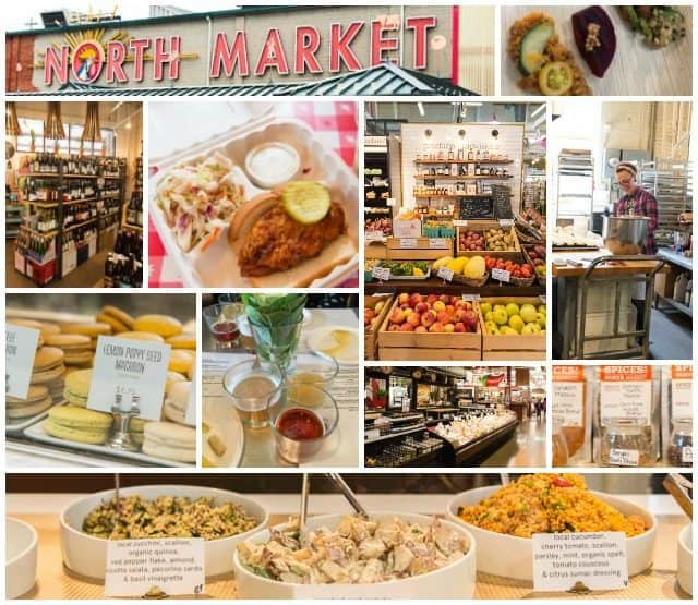 A Photo Collage of Food from the North Market in Columbus