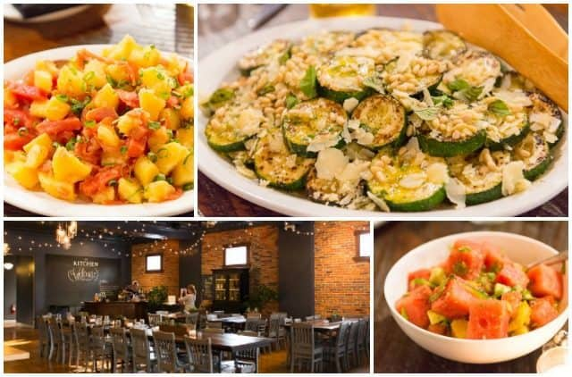 Fresh Zucchini Dish with Tomato Salad in Photo Collage