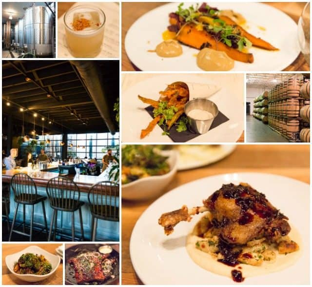 Photo Collage of Columbus Food at Hotel Leveque