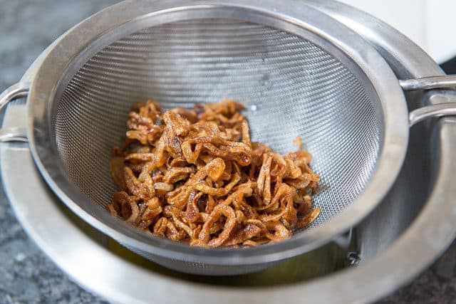 Crispy Fried Shallots Strained From Cooking Oil