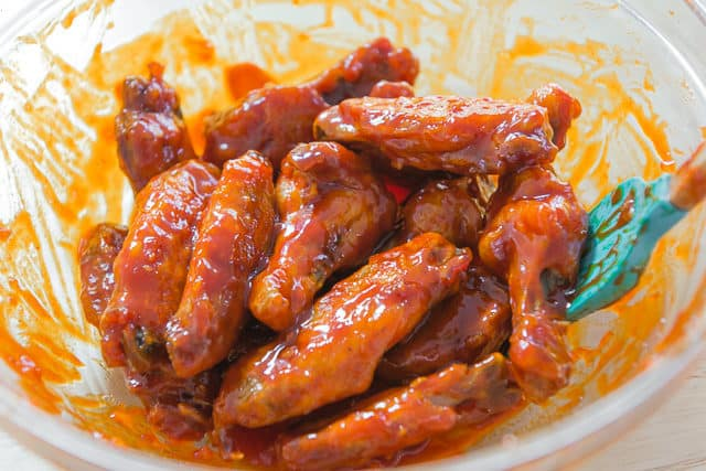 Korean Gochujang Wing Sauce Coated Chicken Wings