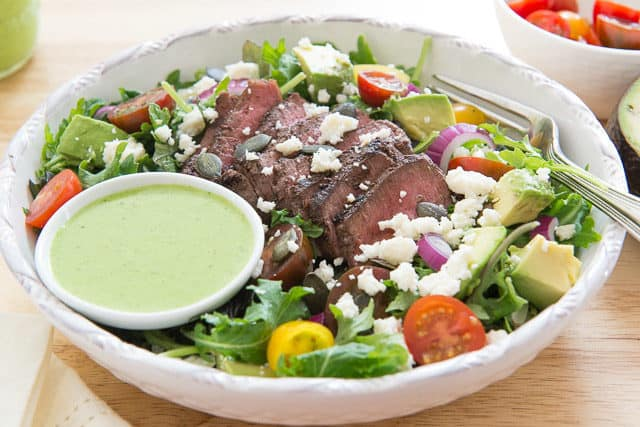 Steak Salad Recipe - With Cilantro Lime Dressing