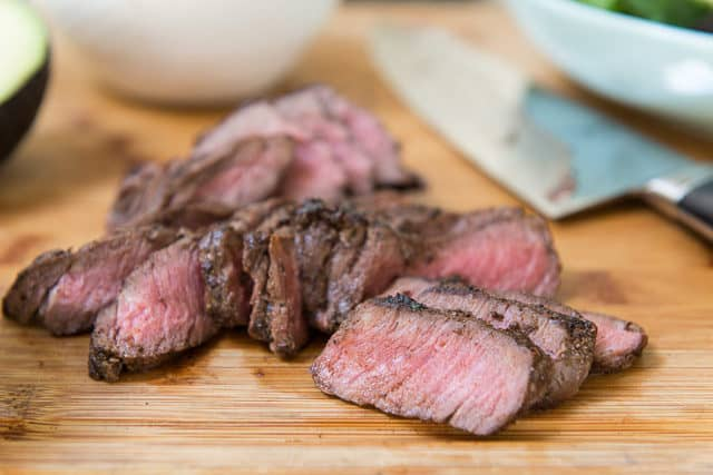 Pan Seared Top Sirloin Steak with Mole Seasoning