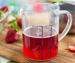Strawberry Simple Syrup - Easy Homemade Simple Syrup Infused with Fresh Strawberries