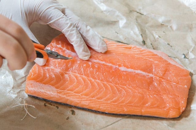 How to Remove Bones in Salmon with Tweezers