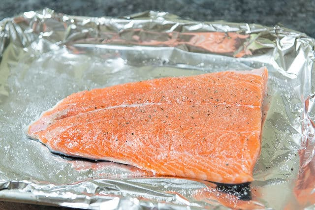 How to Bake Salmon on Foil Lined Tray