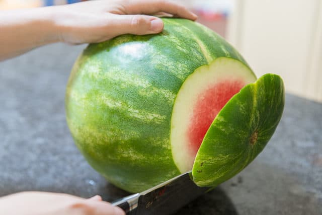 How to Cut Watermelon - Without the rind