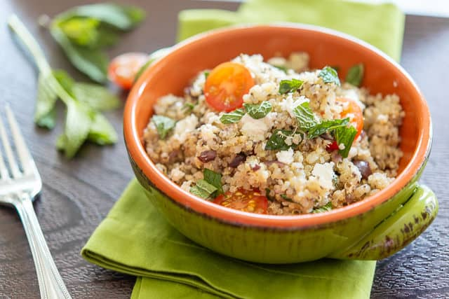 Quinoa Salads - Healthy Quinoa Salad with fresh mint