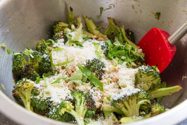 Basil Pecorino Romano Broccoli Florets
