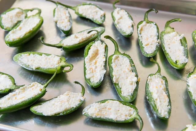 Jalapeno Halves Stuffed With Cream Cheese Filling