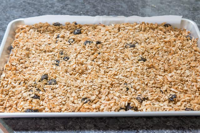 Homemade Granola Baked on Sheet pan