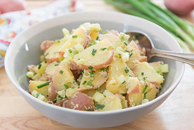 Potato Salad with Red Potatoes - Red Bliss Potato Salad